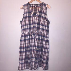 Gap plaid 14 summer dress